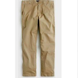 NEW J CREW Light Khaki 1040 Chino Pants Size 35/32